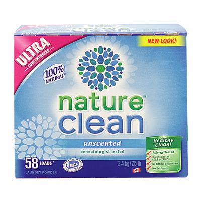 Nature Clean Стиральный порошок-концентрат нейтральный 3.4кг (фото, вид 1)