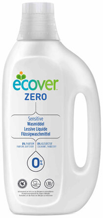 Ecover ZERO Концентрированная жидкость для стирки 30 стирок 1.5л (фото, вид 1)