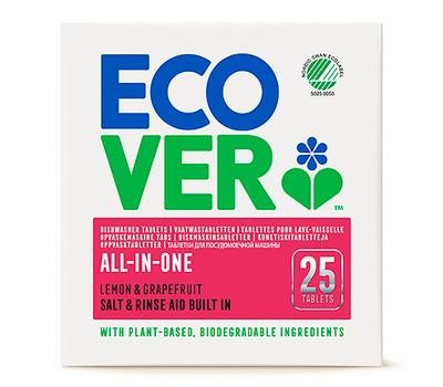 Ecover Таблетки для посудомоечной машины 3в1 25шт (фото, Обновленный дизайн)