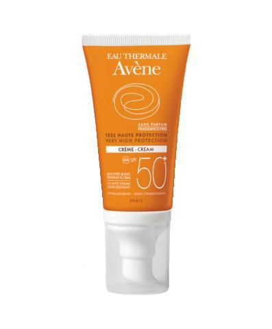 Avene Солнцезащитный крем SPF50+ без отдушек 50мл