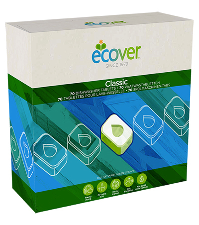 Ecover Экологические таблетки для посудомоечной машины 70шт (1400 г)