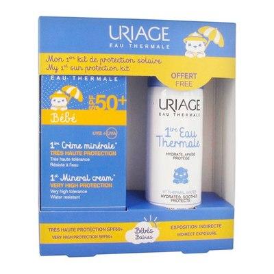 Uriage НАБОР Первый минеральный крем SPF50+, 50мл + Первая термальная вода 50мл