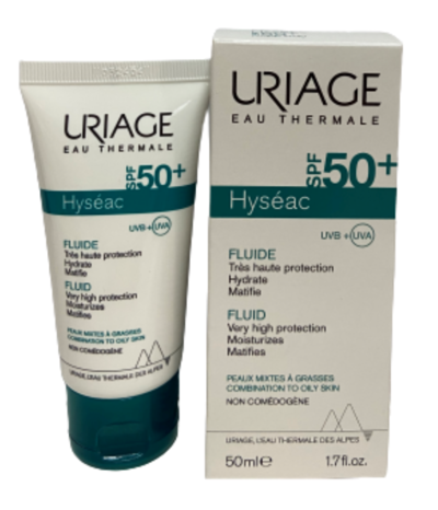 Uriage Солнцезащитная эмульсия SPF50+ ИСЕАК® 50мл (фото)