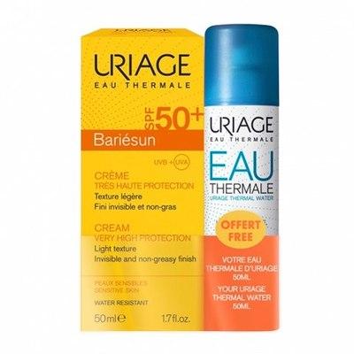 Uriage НАБОР Барьесан Крем SPF50+ и Термальная вода (2 средства)