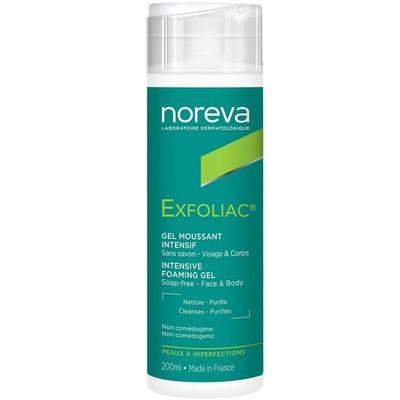 Noreva Эксфолиак Очищающий пенящийся гель 200мл (фото, новая упаковка)