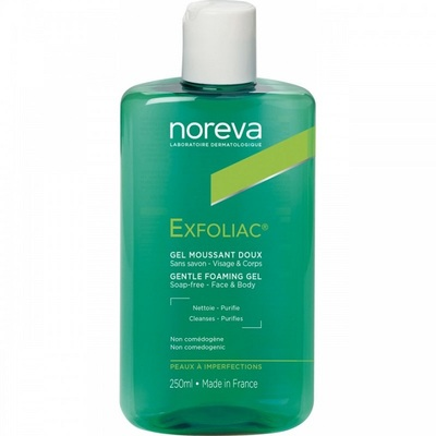 Noreva Эксфолиак Гель мягкий очищающий для лица 250мл