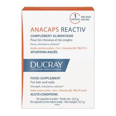 Ducray Анакапс Реактив Капсулы для волос и кожи головы 30шт