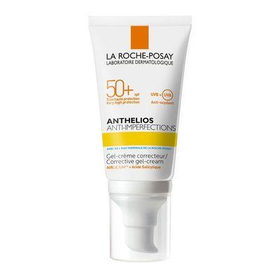 La Roche-Posay ANTHELIOS СОЛНЦЕЗАЩИТНЫЙ ГЕЛЬ-КРЕМ для жирной, проблемной и склонной к акне кожи лица SPF50+ 50мл