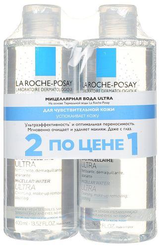 La Roche-Posay НАБОР Вода мицеллярная Ультра для чувствительной кожи 2х400мл
