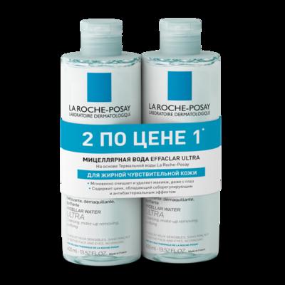 La Roche-Posay НАБОР Эфаклар Вода мицеллярная Ультра 2х400мл