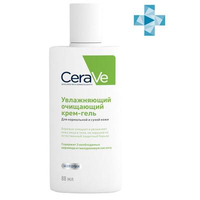CeraVe Крем-гель очищающий для нормальной и сухой кожи 88мл