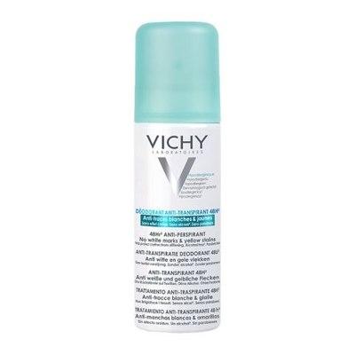 VICHY Дезодорант-спрей антиперспирант 48ч против белых и желтых пятен