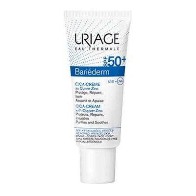 Uriage Барьедерм Цика-Крем SPF50+ с Cu-Zn 40мл