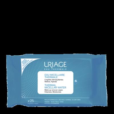 Uriage Салфетки с очищающей мицеллярной водой 25штук