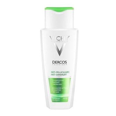 VICHY Деркос Интенсивный шампунь-уход против перхоти для нормальных и жирных волос 200мл