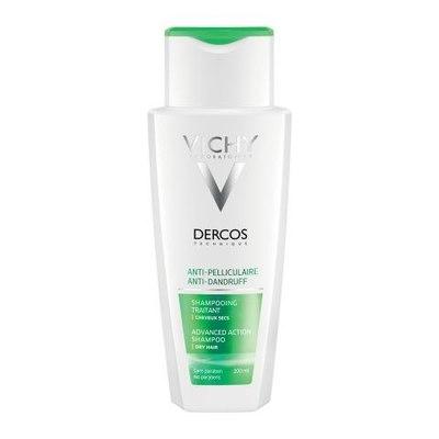 VICHY Деркос Интенсивный шампунь-уход против перхоти для сухих волос 200мл