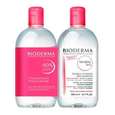 Bioderma Сенсибио H2O Мицеллярная вода 500мл (2 штуки)