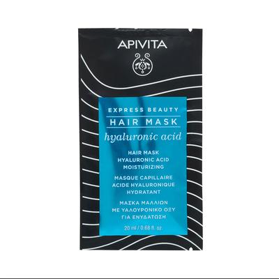 APIVITA Увлажняющая маска для волос с Гиалуроновой кислотой и Алоэ 20мл