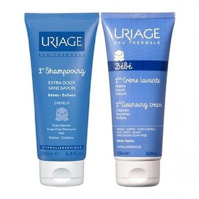 Uriage Бебе Набор Очищающий для кожи и волос (2 средства)