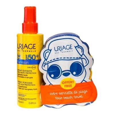 Uriage Барьесан Набор солнцезащитный детский с полотенцем